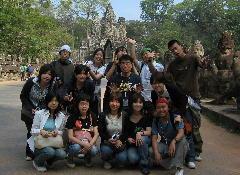 カンボジア・アンコール遺跡にて
