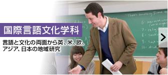 国際言語文化学科 言語と文化の両面から英、米、欧、アジア、日本の地域研究
